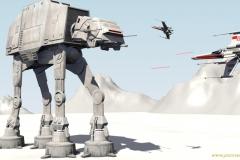Star Wars - AT-AT y Ala-X