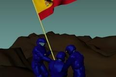 La Saga de los Aznar - Izado de bandera
